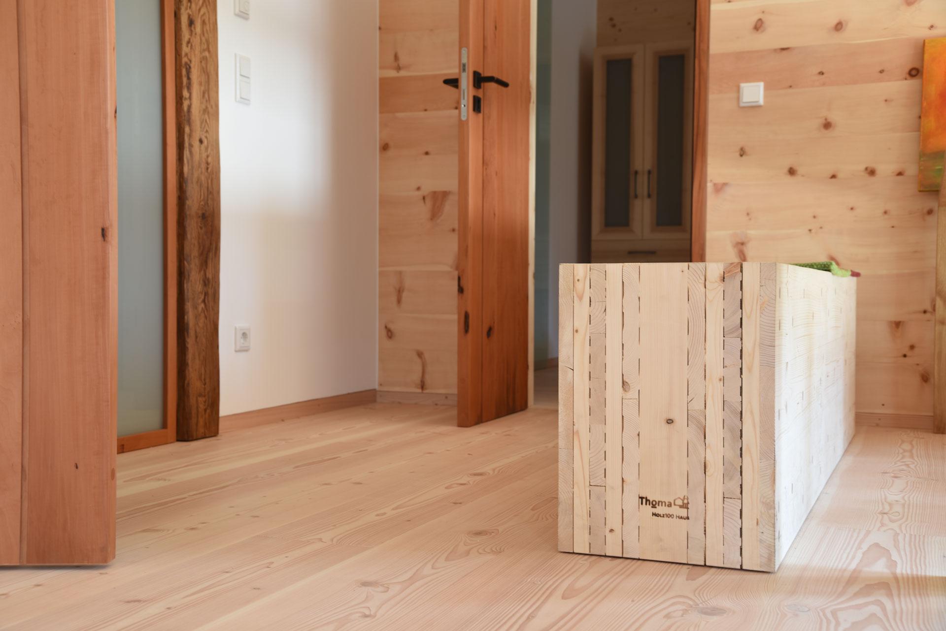 Wandaufbau Thoma Holz100 Haus