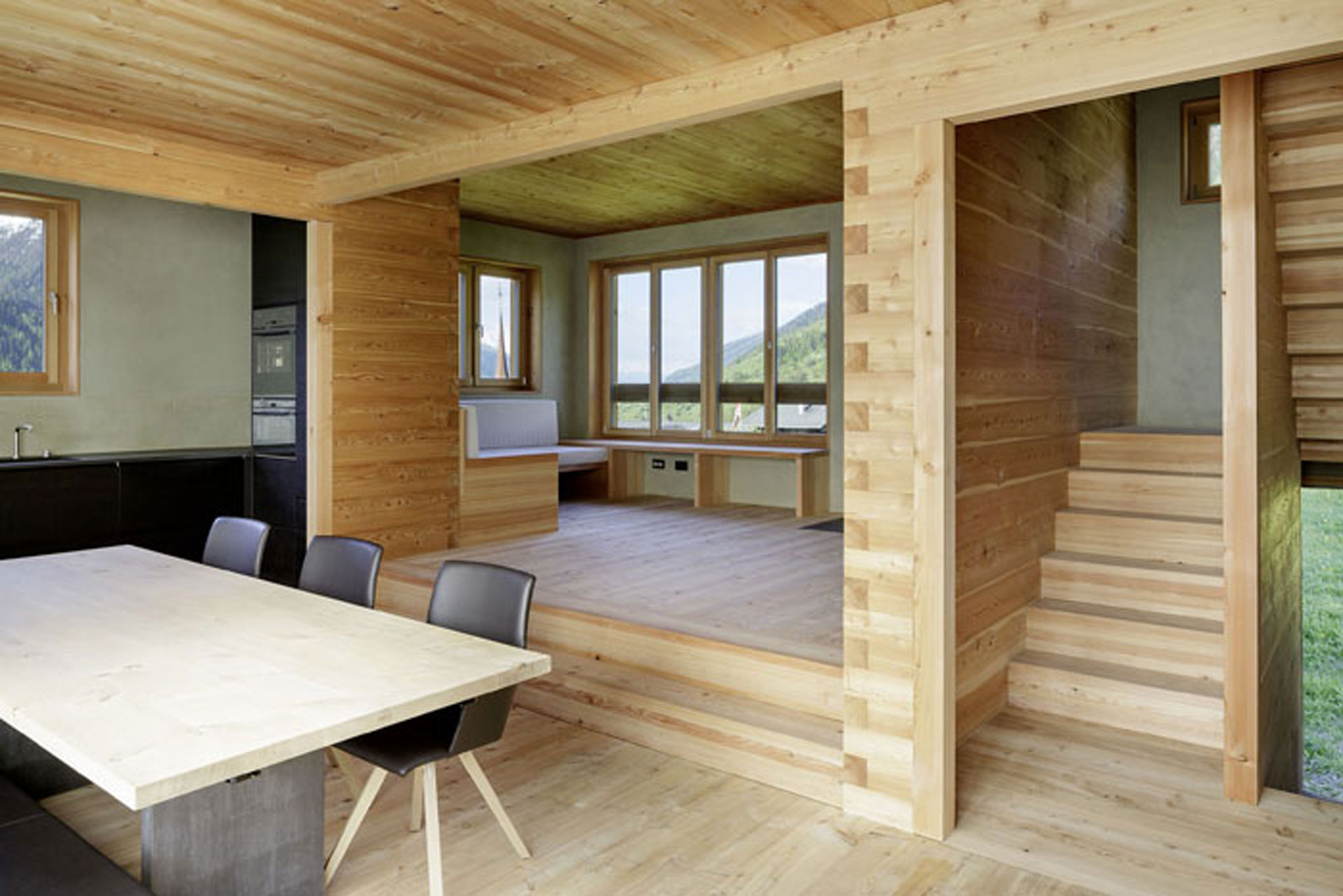 Holz100 Haus Innenraum
